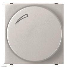 Cветорегулятор поворотно-нажимной для регулируемых LED ламп, 2-100 Вт, ABB Zenit, серебристый N2260.3 PL