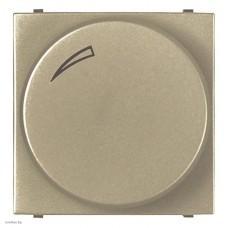 Cветорегулятор поворотно-нажимной для регулируемых LED ламп, 2-100 Вт, ABB Zenit, шампань N2260.3 CV